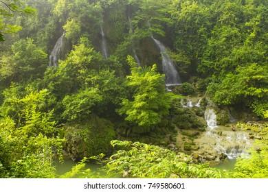 Beautiful Waterfall Sri Gethuk Yogyakarta Indonesia