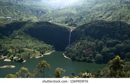 Beautiful waterfall in SriLanka