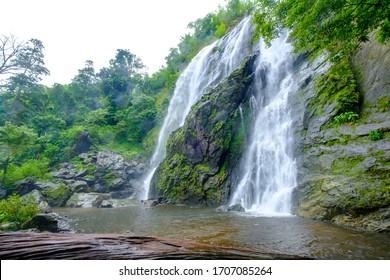 Beautiful waterfall stream at Khlong-Lan National Park, Thailand
