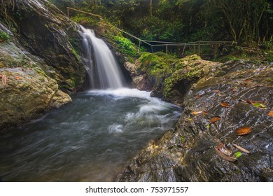 A beautiful waterfall Sungai Ruok at Belum Forest, Perak, Malaysia. Soft focus due to long exposure.