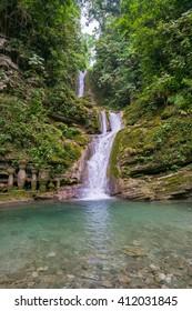 Beautiful Waterfall at the Surreal Gardens of Las Pozas, Xilitla, Mexico