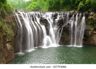 beautiful waterfall in Taiwan