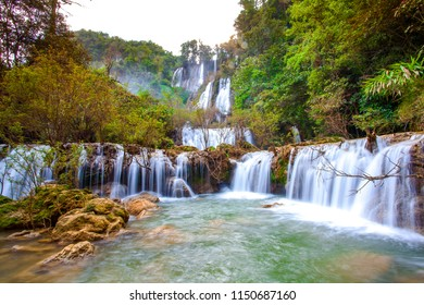 Beautiful waterfall in thailand, Thi lo su warerfall, Tak, Thailand