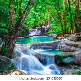 Beautiful waterfall in The tropical forest