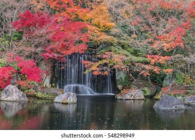 Beautiful waterfalls in autumn