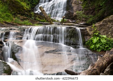 Beautiful waterfalls in deep forest