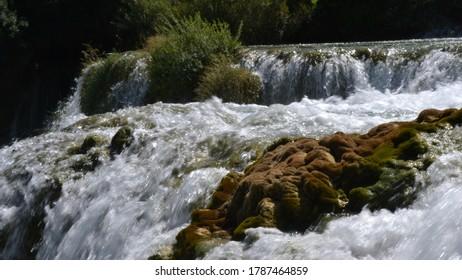 The beautiful waterfalls of Karka, Croatia