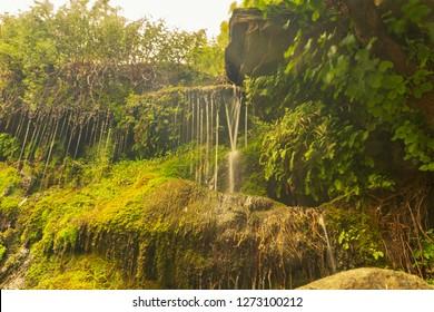 Beautiful waterfalls of Pithara at Andros island in Greece.
