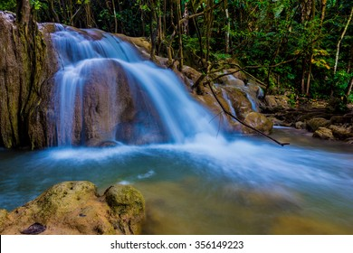 beautiful waterfalls  the 'Tee lor su'  in Thailand
