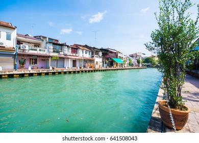 beautiful waterfront community in Melaka town , Malaysia