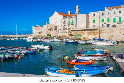 The beautiful waterfront of Giovinazzo, town in the province of Bari, Puglia (Apulia), southern Italy.