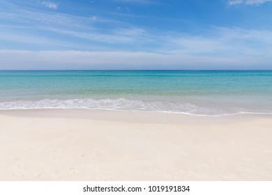 Beautiful wave on the beach, clear water, white sand in your holliday at andaman sea Phuket Thailand.