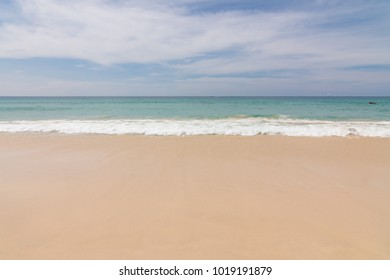 Beautiful wave  on the beach, clear water, golden sand in your holliday at andaman sea Phuket Thailand.