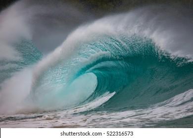Beautiful Wave, a plunging breaker,