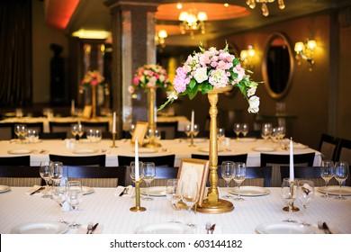 Beautiful wedding accessories, decor, flowers