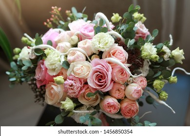 beautiful wedding bouquet for the holiday of roses