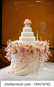beautiful wedding cake  / white cake wedding decoration