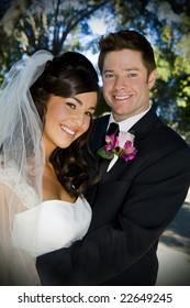 Beautiful wedding couple on their special day