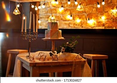 beautiful wedding decoration for a feast