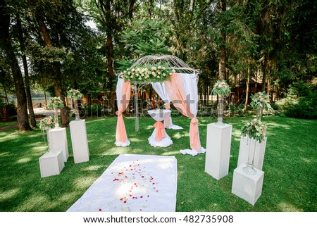 Beautiful Wedding Decorations Outside Stock Photo Edit Now