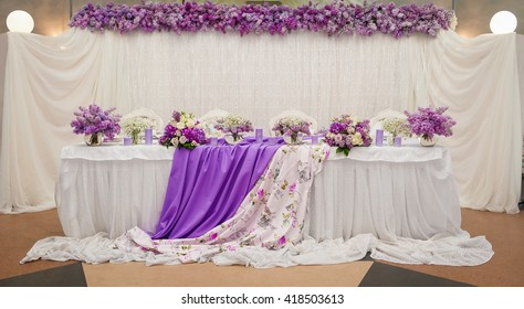 Beautiful wedding in lilac color