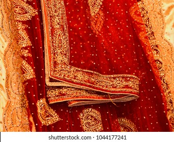 Beautiful wedding saree with stylish design unique photograph