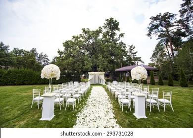 Beautiful wedding set up. Wedding ceremony