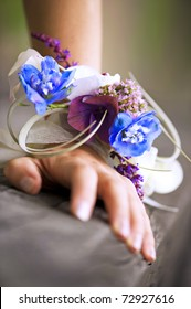beautiful wedding wrist corsage