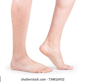 Beautiful well-groomed male legs.