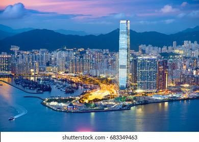Beautiful West Kowloon sunset