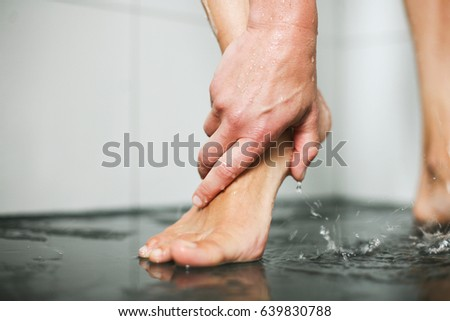 617e335ce Beautiful Wet Feet Female White Stock Photo (Edit Now) 639830788 ...
