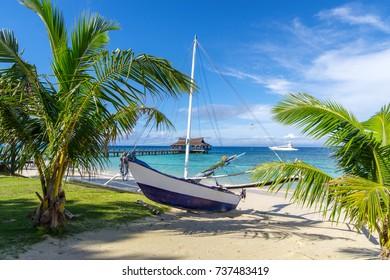 beautiful white beach at Balesin island, Philippines