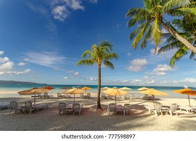 beautiful white beach in boracay, Philippines