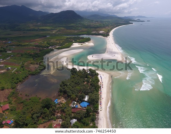 Beautiful White Beaches of the No 2 River, in Freetown, Sierra Leone