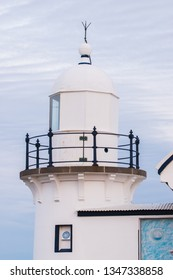 The beautiful white and blue Tacking Point Lighthouse in Port Macquarie, NSW - Australia