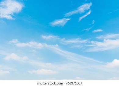 Beautiful white cloud on blue sky background