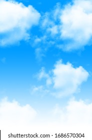 Beautiful White Clouds in Blue Sky