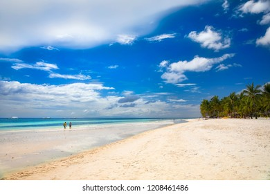 Beautiful, White Dumaluan Beach on Panglao Island, Bohol, Philippines