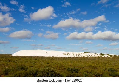 Beautiful white dune near to Nambung National Park, Western Australia, Australia.