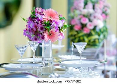 Beautiful white flowers peonies in a vase