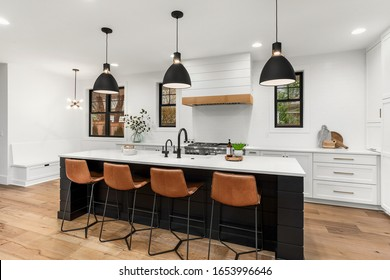 Modern Farmhouse Kitchens High Res Stock Images Shutterstock