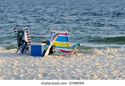The beautiful white sand beach of the Alabama Gulf Coast.