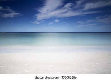 Beautiful white sand beach along the Gulf of Mexico in Florida
