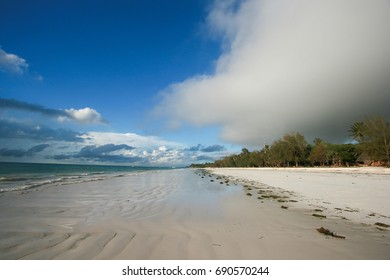 A beautiful white sand beach near Mombasa