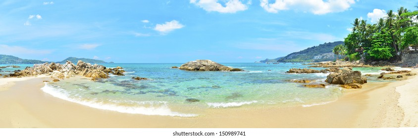 Beautiful white sand beach and tropical sea, beach in thailand.