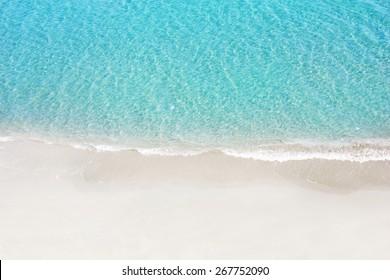 Beautiful white sand beach and tropical sea