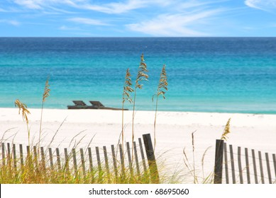 Beautiful white sands and emerald water