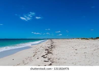 Beautiful white sandy beach in Jurian Bay, Western Australia