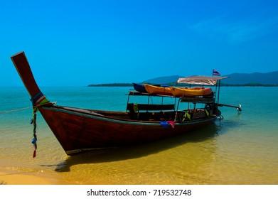 The beautiful white sandy beach of Koh Lanta, Krabi, Thailand