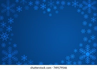 Beautiful white snowflake on a blue background.